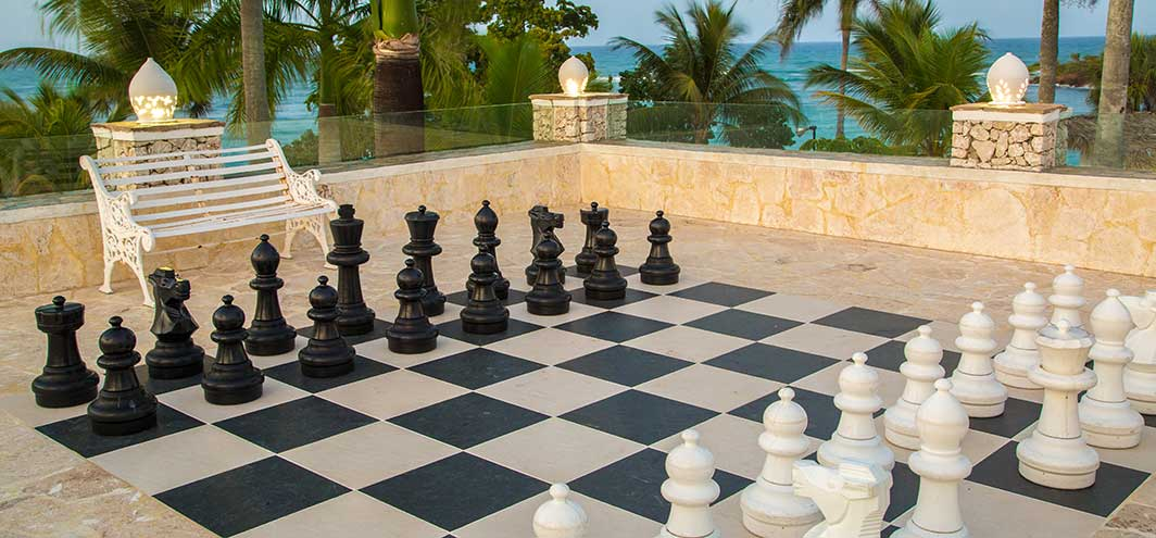The Tropical Life Size Chessboard